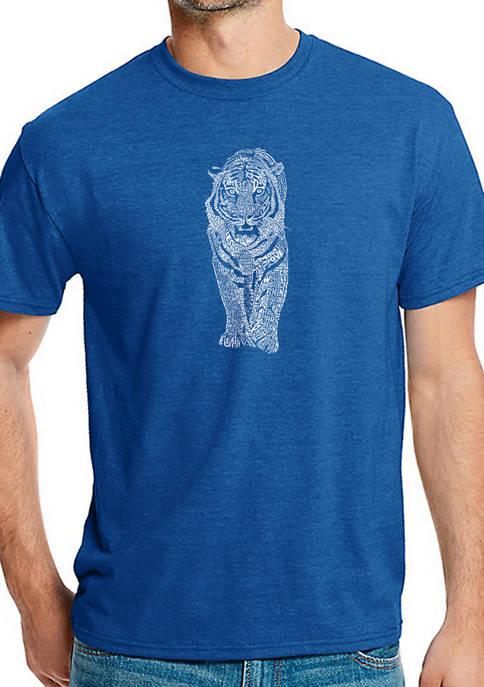 Mens Premium Blend Word Art Graphic T-Shirt - Tiger