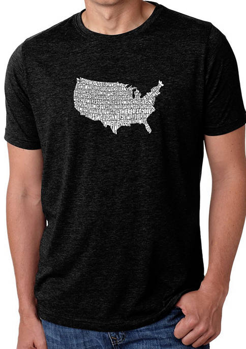Mens Premium Blend Word Art Graphic T-Shirt - The Star Spangled Banner