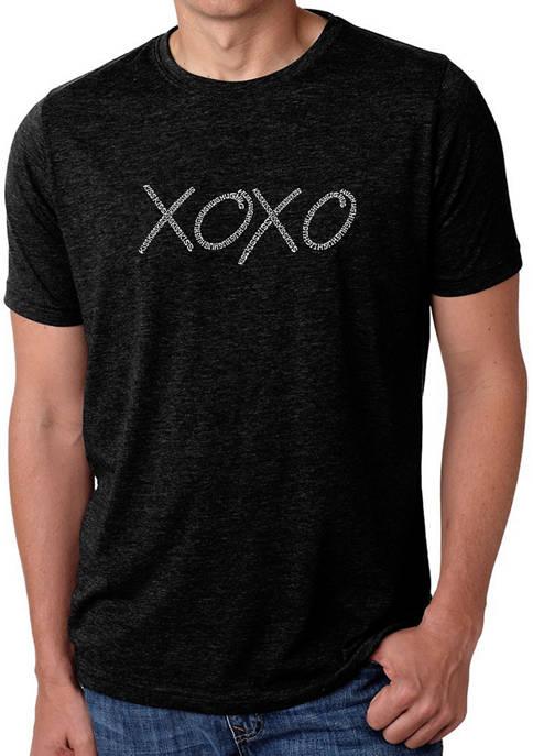 Mens Premium Blend Word Art Graphic T-Shirt - XOXO