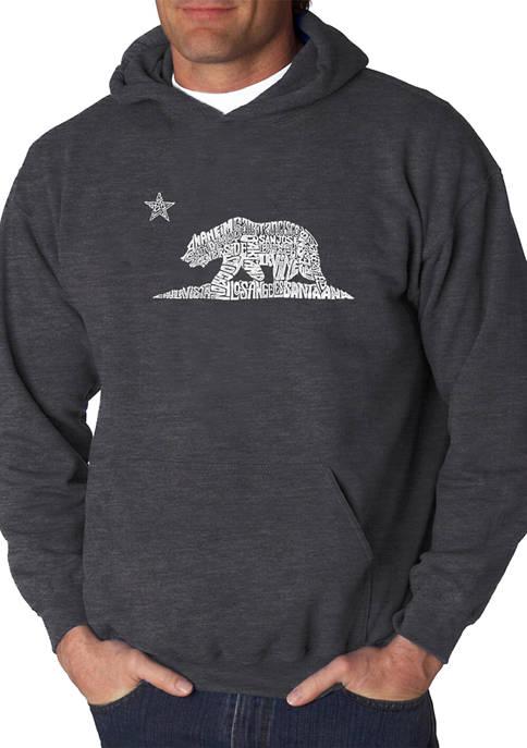 Word Art Graphic Hooded Sweatshirt - California Bear