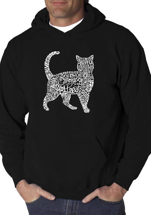 Word Art Graphic Hooded Sweatshirt - Cat