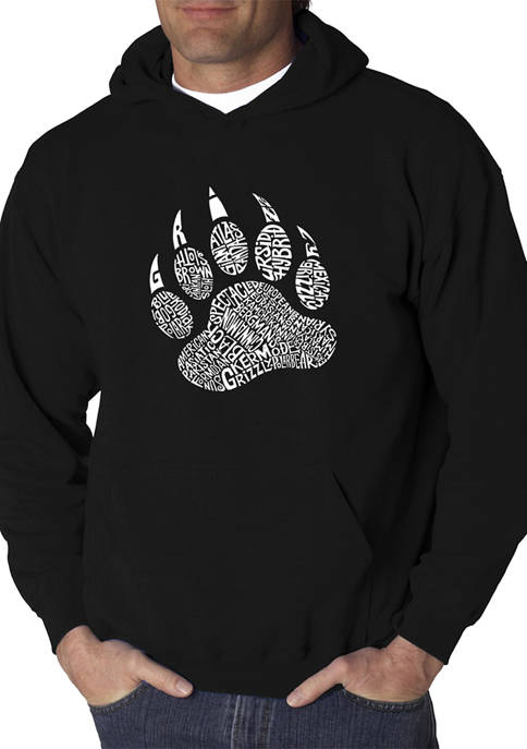 Word Art Graphic Hooded Sweatshirt - Types of Bears