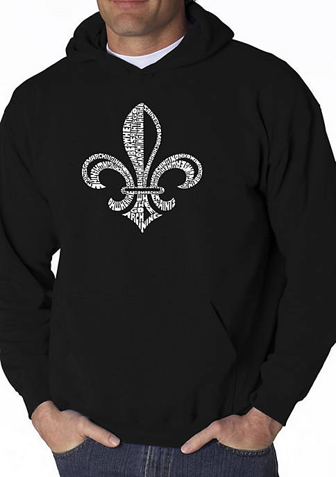 Word Art Hooded Sweatshirt - When The Saints Go Marching In Lyrics