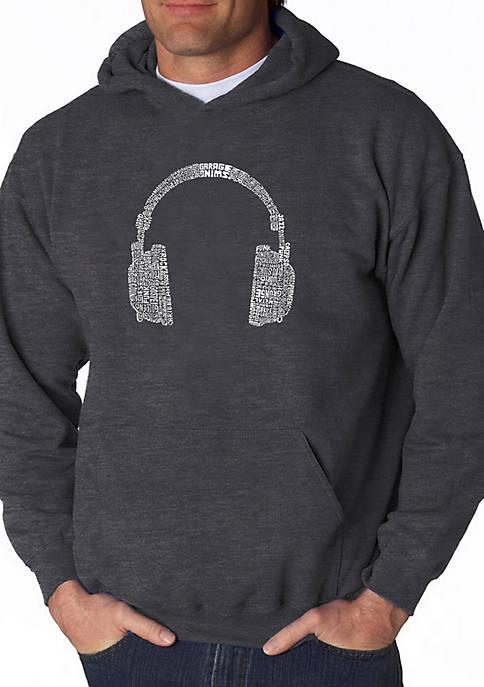 Word Art Hooded Sweatshirt - 63 Different Genres of Music