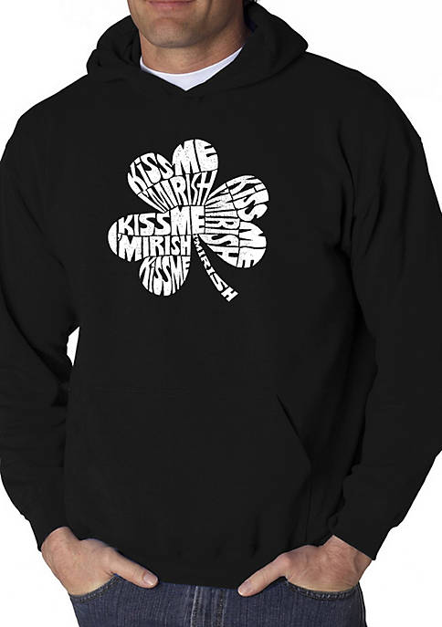 Word Art Hooded Sweatshirt - Kiss Me Im Irish
