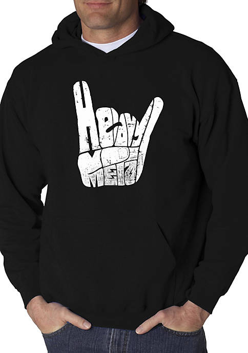 LA Pop Art Word Art Hooded Graphic Sweatshirt