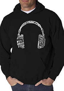LA Pop Art Word Art Hooded Sweatshirt - Headphones - Languages