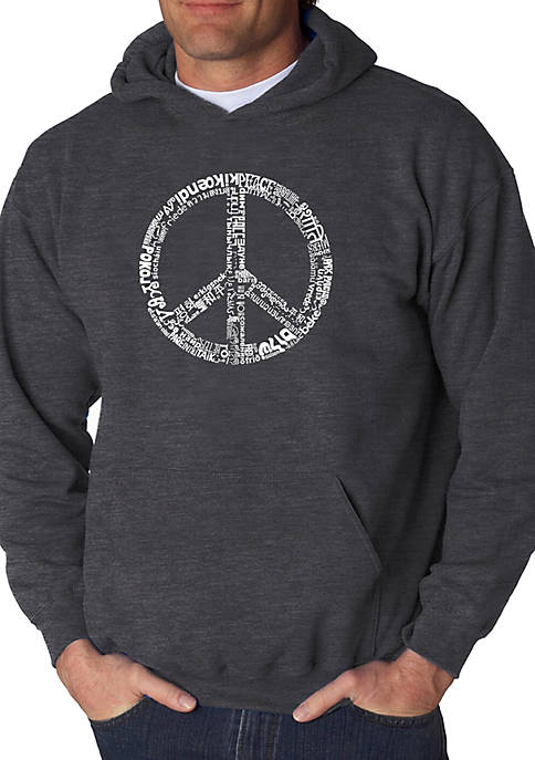 Word Art Hooded Sweatshirt - Peace in 77 Languages