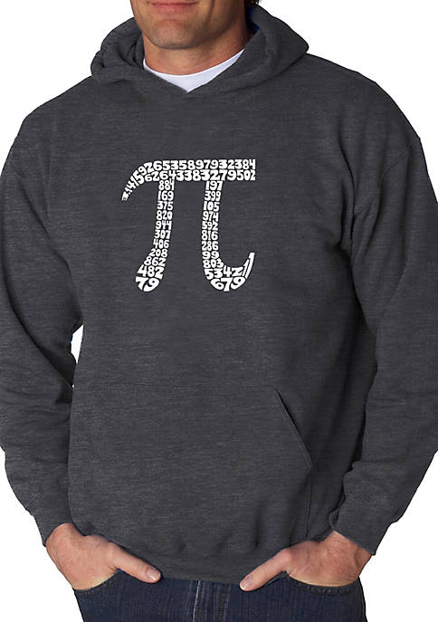 Word Art Hooded Sweatshirt - The First 100 Digits of Pi