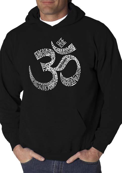 Mens Word Art Hooded Graphic Sweatshirt - Poses OM