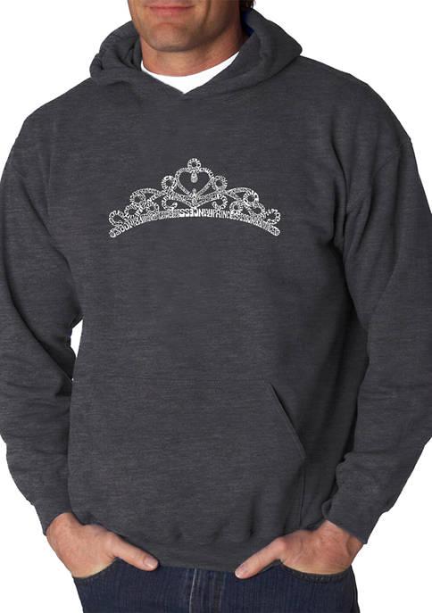 Word Art Hooded Graphic Sweatshirt - Princess Tiara