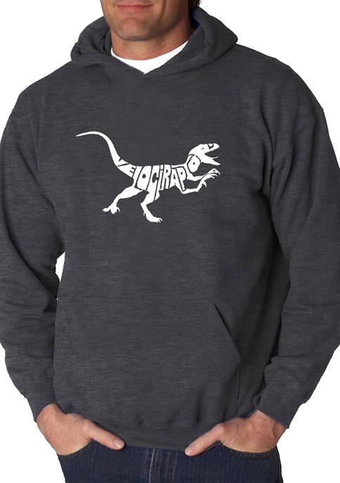Mens Word Art Hooded Graphic Sweatshirt - Velociraptor