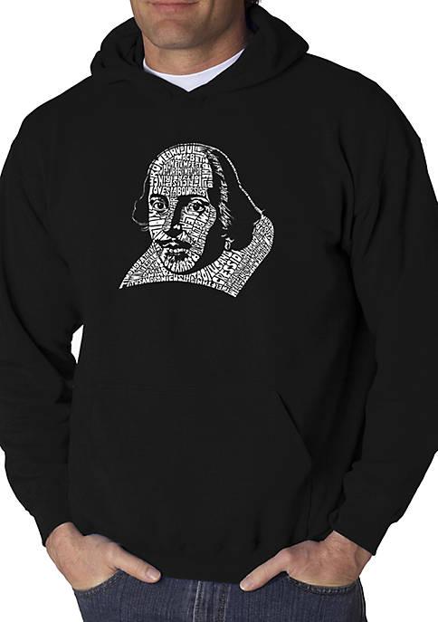 Word Art Hooded Sweatshirt - The Titles of All of William Shakespeares Comedies & Tragedies
