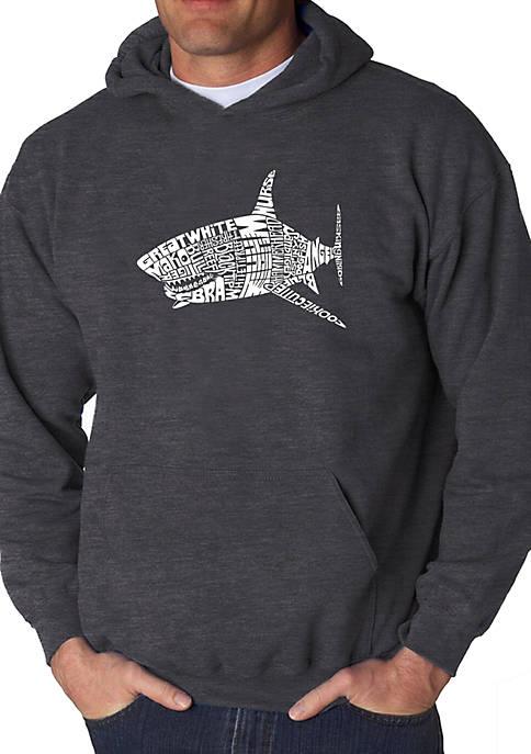 Word Art Hooded Sweatshirt - Species of Shark