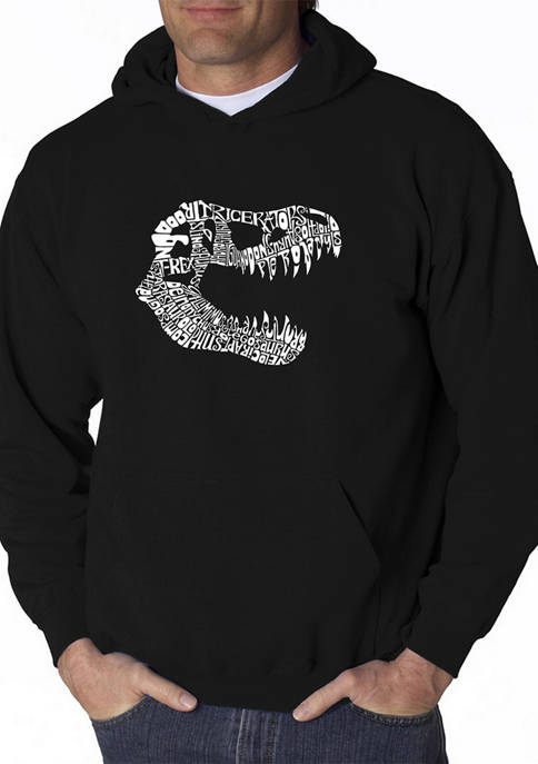 Word Art Hooded Graphic Sweatshirt - T-Rex