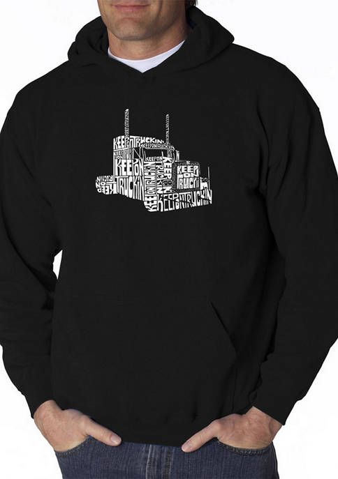 LA Pop Art Mens Word Art Hooded Graphic