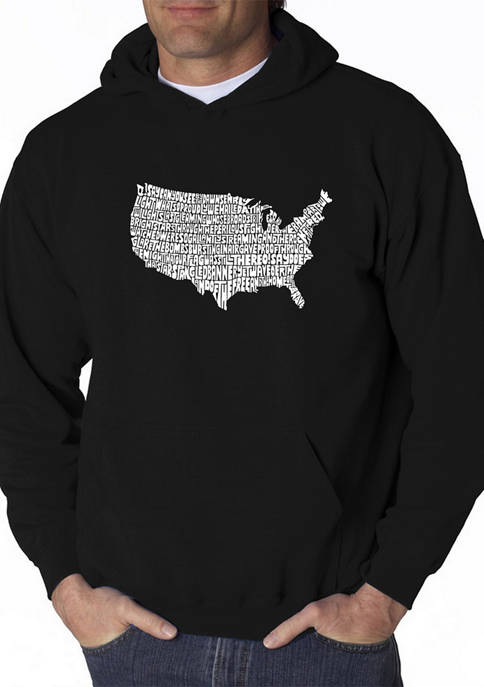Mens Word Art Hooded Graphic Sweatshirt - The Star Spangled Banner