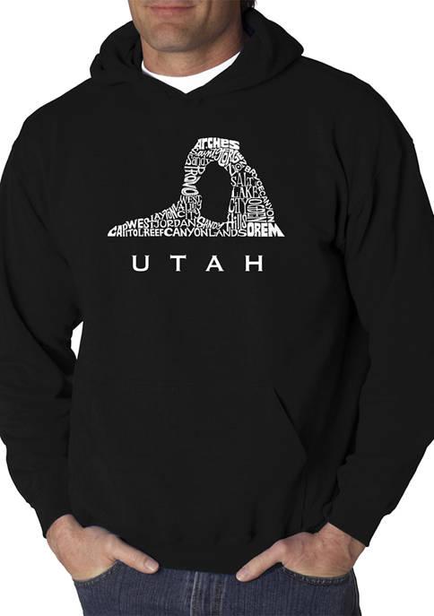 Word Art Hooded Graphic Sweatshirt - Utah
