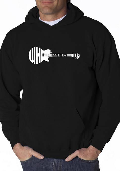 Mens Word Art Hooded Graphic Sweatshirt - Whole Lotta Love