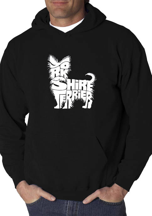 Mens Word Art Hooded Graphic Sweatshirt - Yorkie