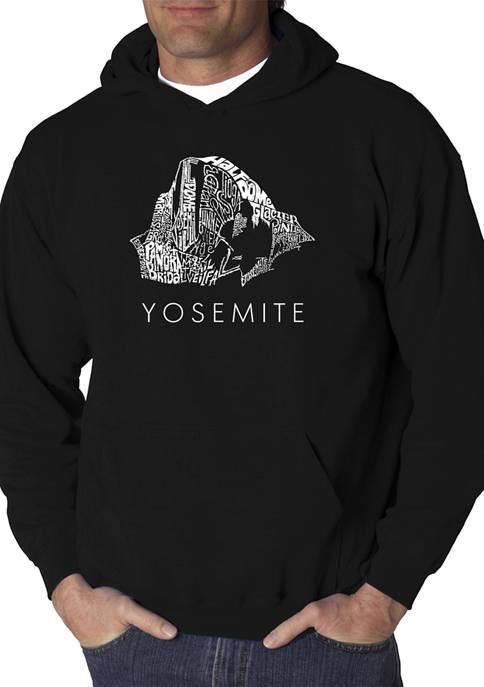 Mens Word Art Hooded Sweatshirt - Yosemite