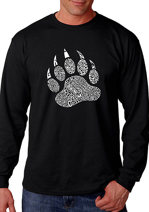 Word Art Long Sleeve T Shirt - Types of Bears