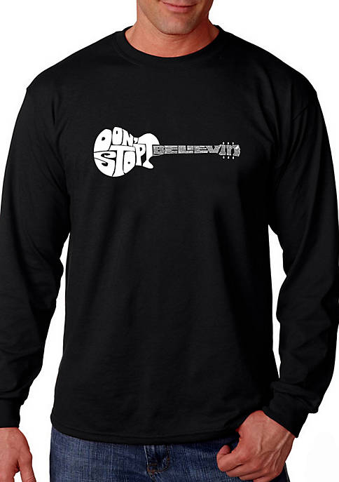 Word Art Long Sleeve Graphic T-Shirt - Dont Stop Believin