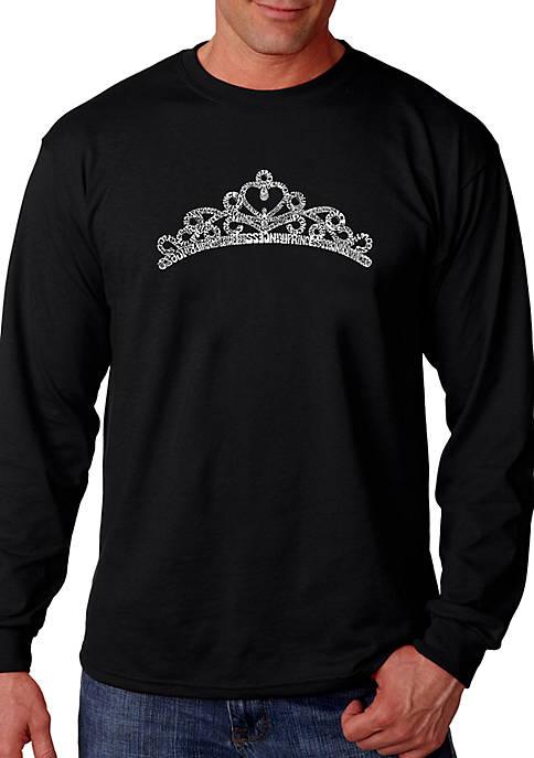 Word Art Long Sleeve Graphic T-Shirt - Princess Tiara
