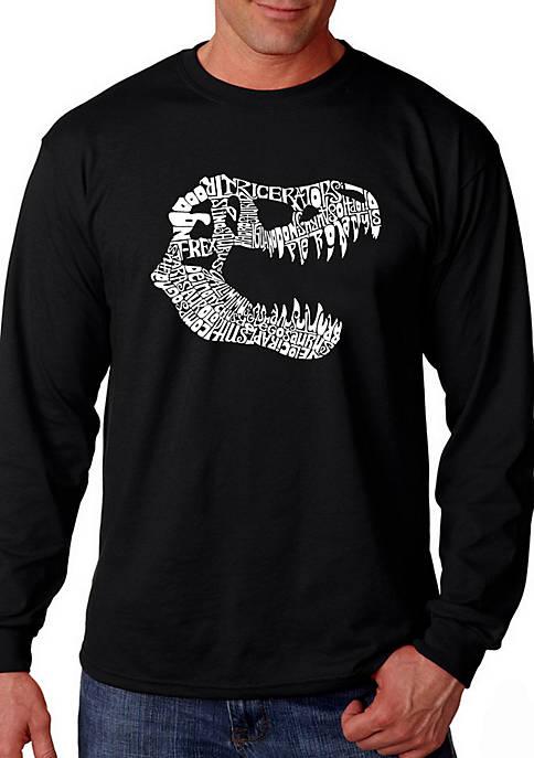 Word Art Long Sleeve Graphic T-Shirt - T Rex