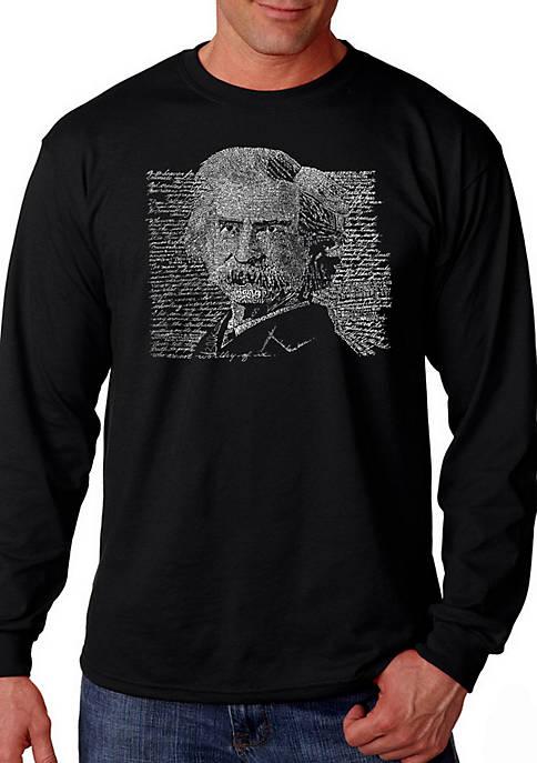 Word Art Long Sleeve T Shirt - Mark Twain