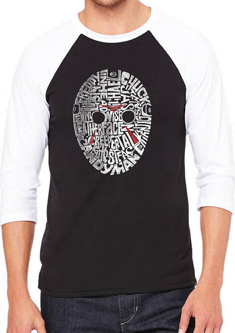 LA Pop Art Raglan Baseball Word Art Graphic