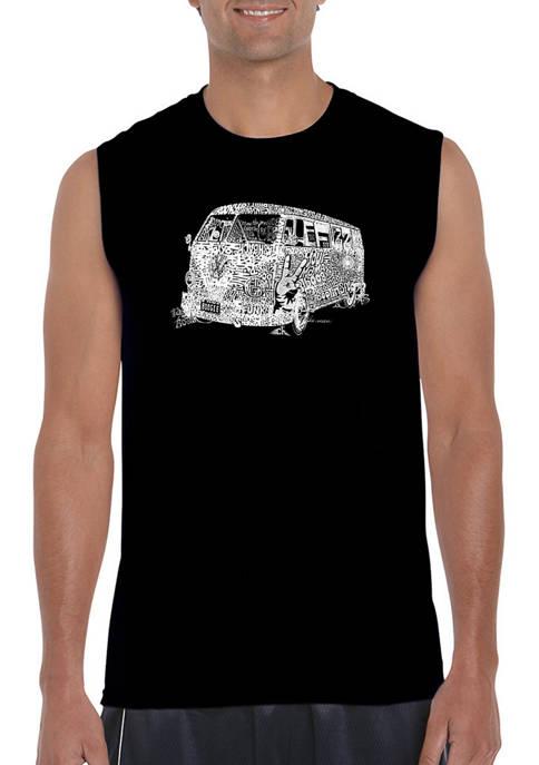 Mens Word Art Sleeveless Graphic T-Shirt