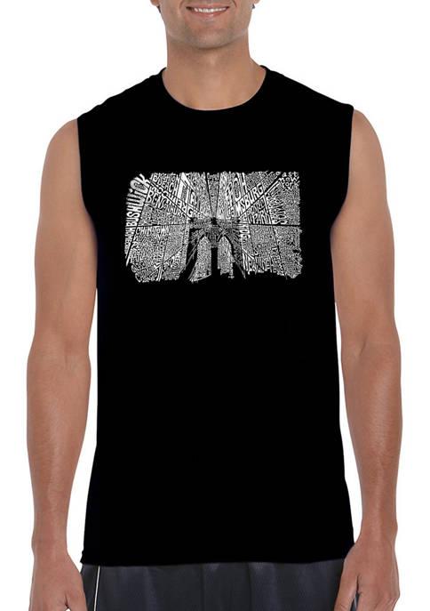 Brooklyn Bridge Word Art Sleeveless Graphic T-Shirt
