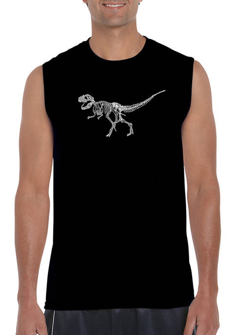 LA Pop Art Mens Dinosaur T Rex Skeleton