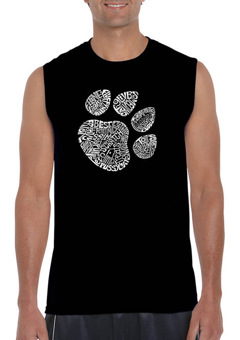 LA Pop Art Mens Cat Paw Word Art