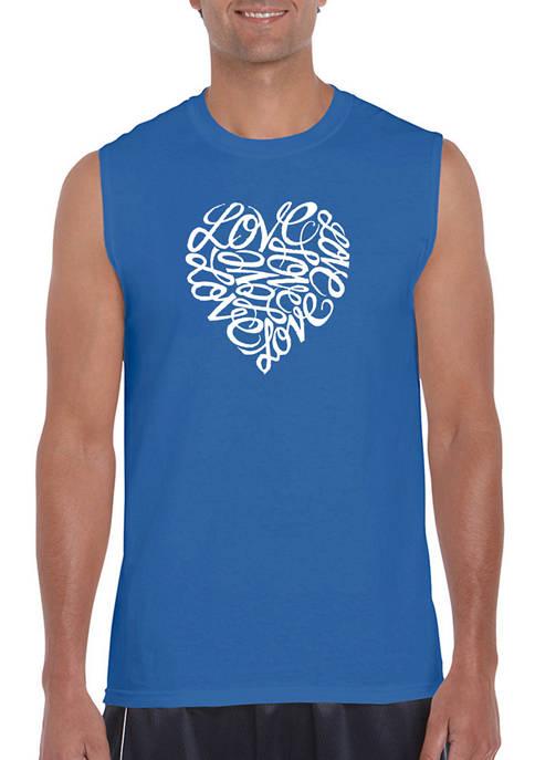 Word Art Sleeveless Graphic T-Shirt - Love