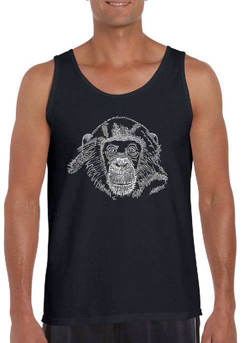 Word Art Tank Top - Chimpanzee
