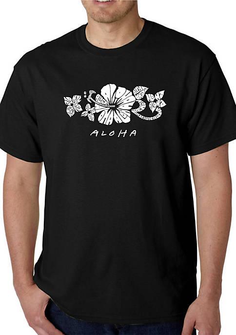 Word Art Graphic T-Shirt - Aloha