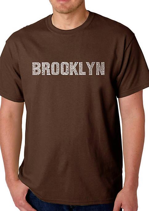 Word Art Graphic T-Shirt - Brooklyn Neighborhoods