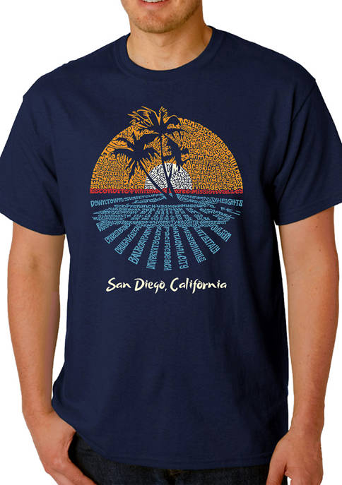 Word Art T-Shirt - Cities In San Diego