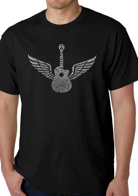 Mens Word Art Graphic T-Shirt - Amazing Grace