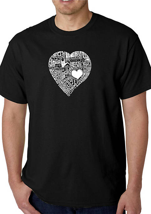 Word Art Graphic T-Shirt - Love in 44 Different Languages