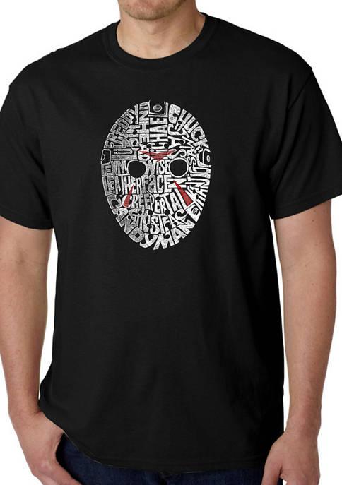Mens Word Art T-shirt - Slasher Movie Villians