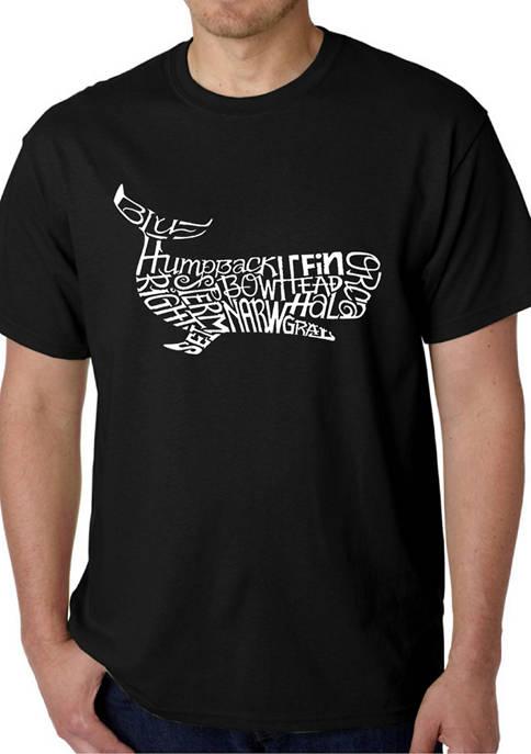 Mens Word Art Graphic T-Shirt - Humpback Whale