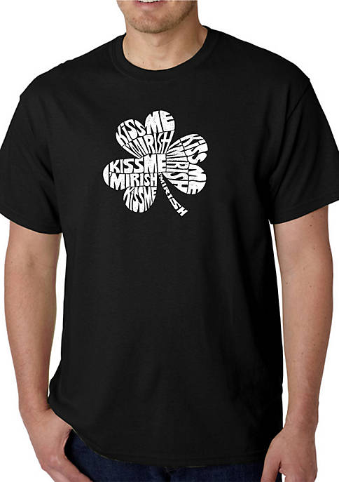 Word Art T Shirt – Kiss Me Im Irish