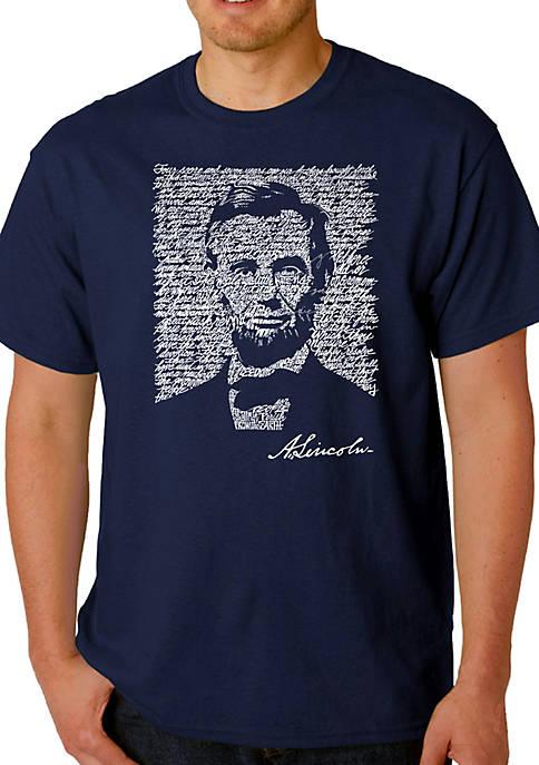 Word Art T Shirt – Abraham Lincoln - Gettysburg Address