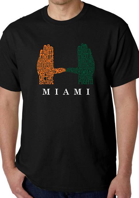 LA Pop Art Mens Word Art Graphic T-Shirt