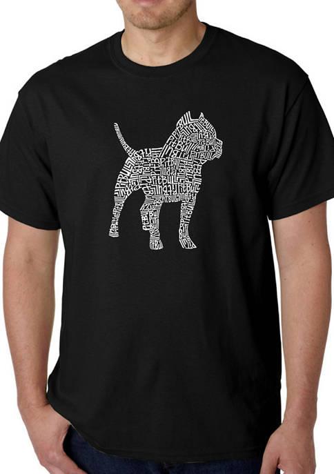 Mens Word Art Graphic T-Shirt - Pitbull