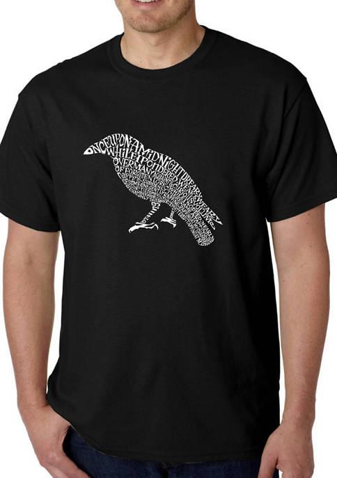 Word Art Graphic T-Shirt - Edgar Allen Poes The Raven