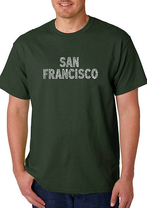 Word Art Graphic T-Shirt - San Francisco Neighborhoods